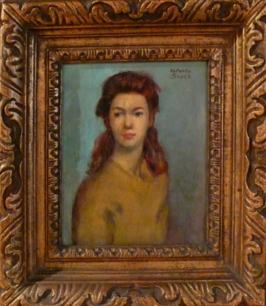Raphael Soyer Painting