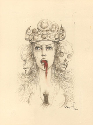 Leonor Fini Ink Drawing