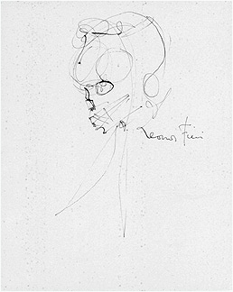 Leonor Fini Drawing Tete de Squelette