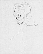 Leonor Fini Skull Drawing